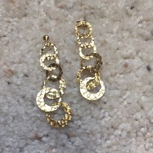 Hammered gold color earrings